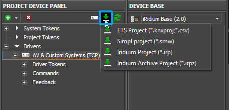 Editor project device panel import add drivers.png